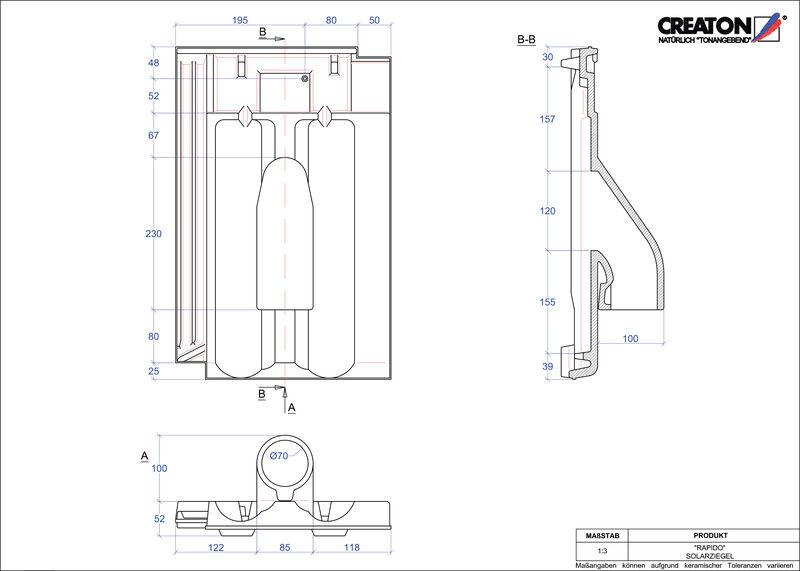 CAD soubor tašky RAPIDO prostupová taška pro solární systémy SOLAR