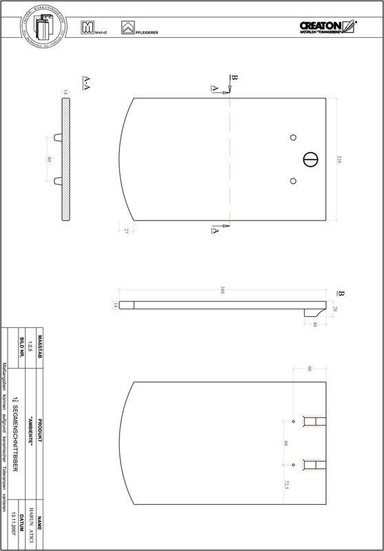 CAD soubor tašky AMBIENTE segmentový řez SEG-1-1-4
