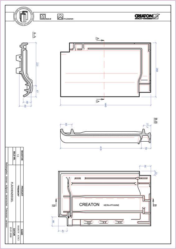 CAD soubor tašky PREMION střešní taška FLA