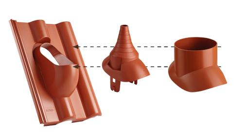 Betonové střešní tašky CREATON - Funkční doplňky