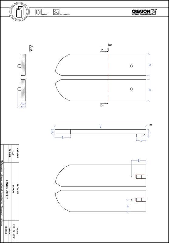 CAD soubor tašky SAKRAL zaoblený tvar RUND-LH