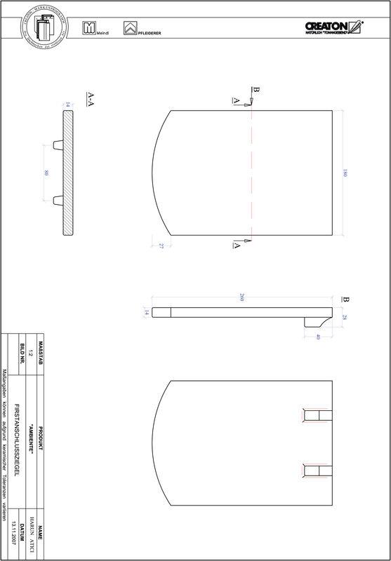 CAD soubor tašky AMBIENTE segmentový řez SEG-FAZ
