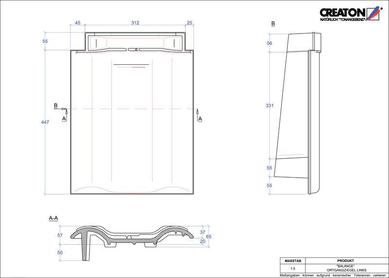 CAD soubor tašky BALANCE krajní taška levá OGL