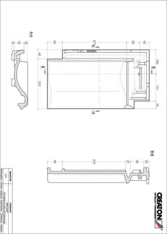 CAD soubor tašky MELODIE podhřebenová větrací taška FALZ