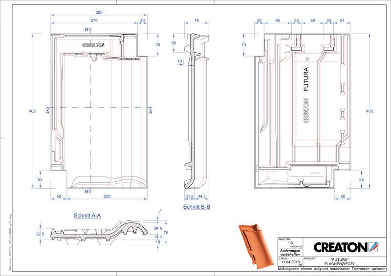 CAD soubor tašky FUTURA střešní taška FLA
