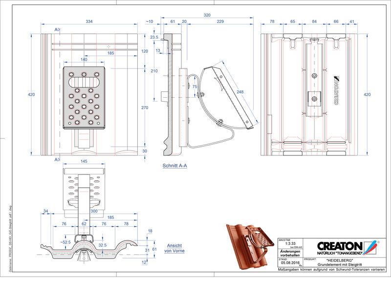 CAD soubor tašky HEIDELBERG zákl. taška Steigtritt