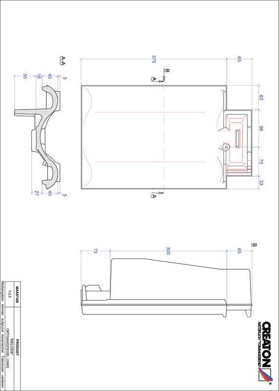 CAD soubor tašky MELODIE krajní taška levá OGL