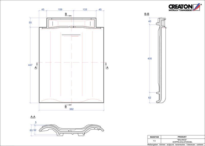 CAD soubor tašky BALANCE taška s dvojitou naválkou DWZ