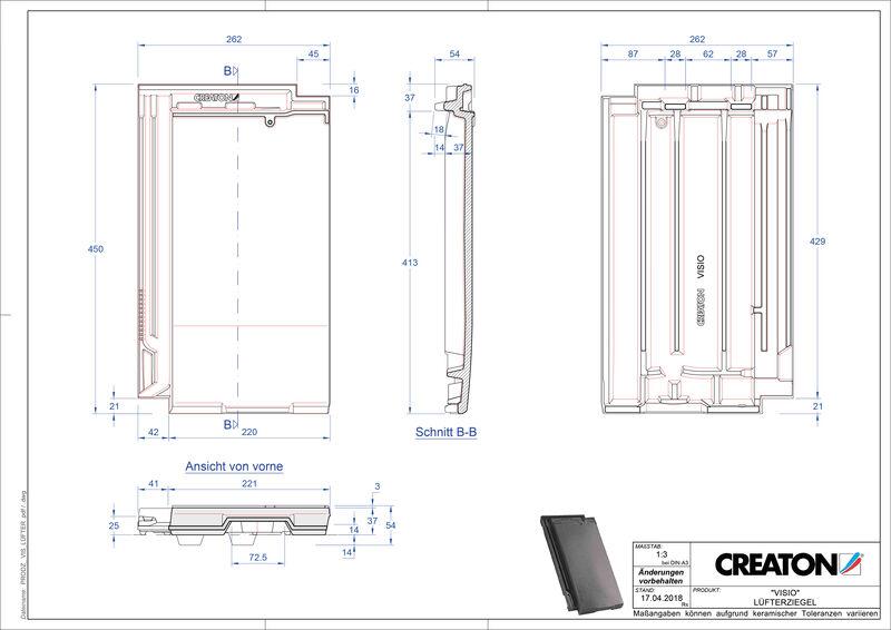 CAD soubor tašky VISIO větrací taška LUEFTZ