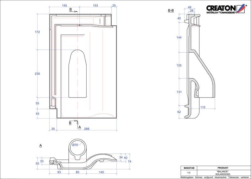 CAD soubor tašky BALANCE prostupová taška pro solární systémy SOLAR
