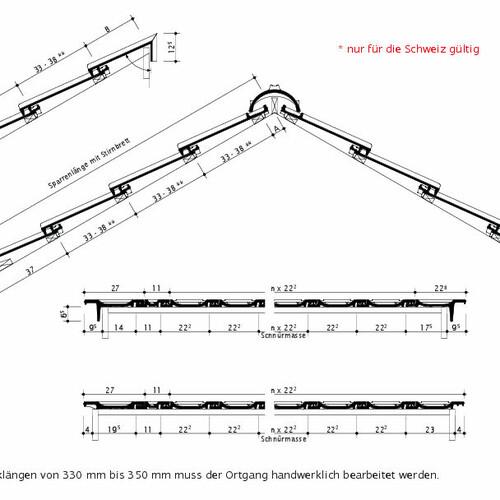 Technický výkres tašky OPTIMA Švýcarsko OPTIMA