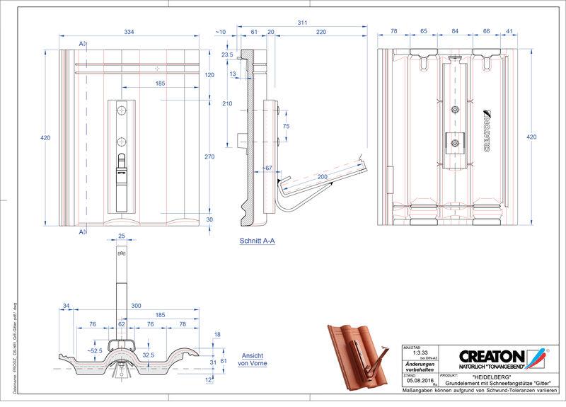 CAD soubor tašky HEIDELBERG zákl. taška Gitter