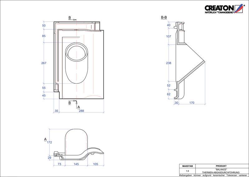 CAD soubor tašky BALANCE prostupová taška pro odvod spalin THERME