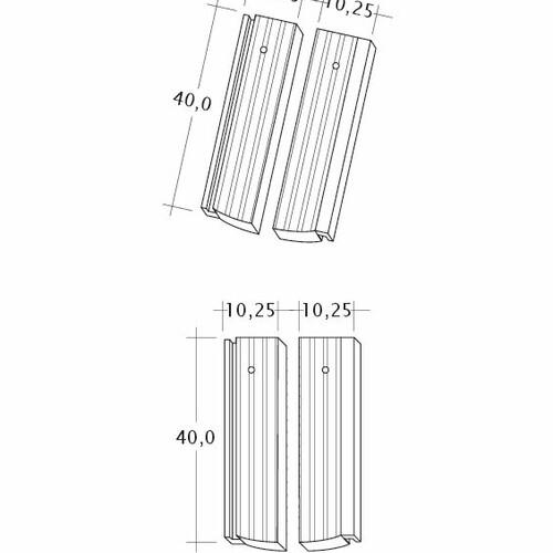 Technický výkres tašky PROFIL Strangfalz-gewellt-1-2