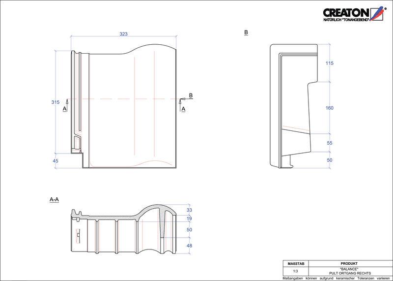 CAD soubor tašky BALANCE pultová taška krajní pravá PULTOGR