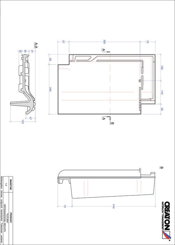 CAD soubor tašky FUTURA krajní taška pravá OGR