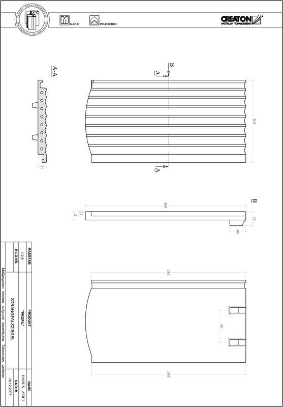 CAD soubor tašky PROFIL segmentový řez STRANGFALZ-GEWELLT-1-1