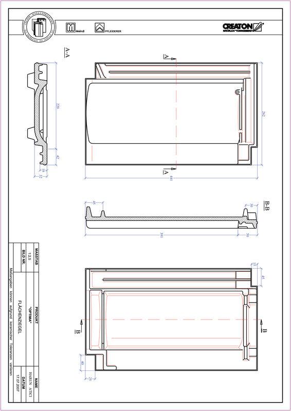 CAD soubor tašky TERRA OPTIMA střešní taška FLA