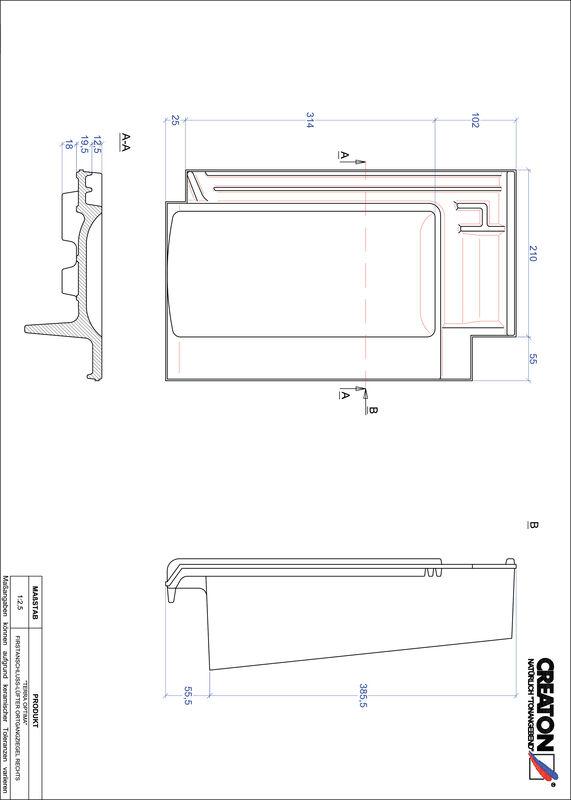 CAD soubor tašky TERRA OPTIMA podhřebenová větrací taška krajní pravá FALOGR