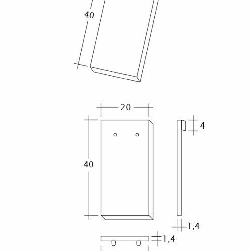 Technický výkres tašky AMBIENTE Ger-1-1