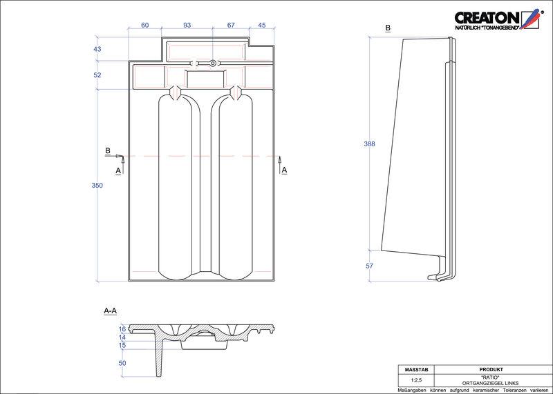 CAD soubor tašky RATIO krajní taška levá OGL
