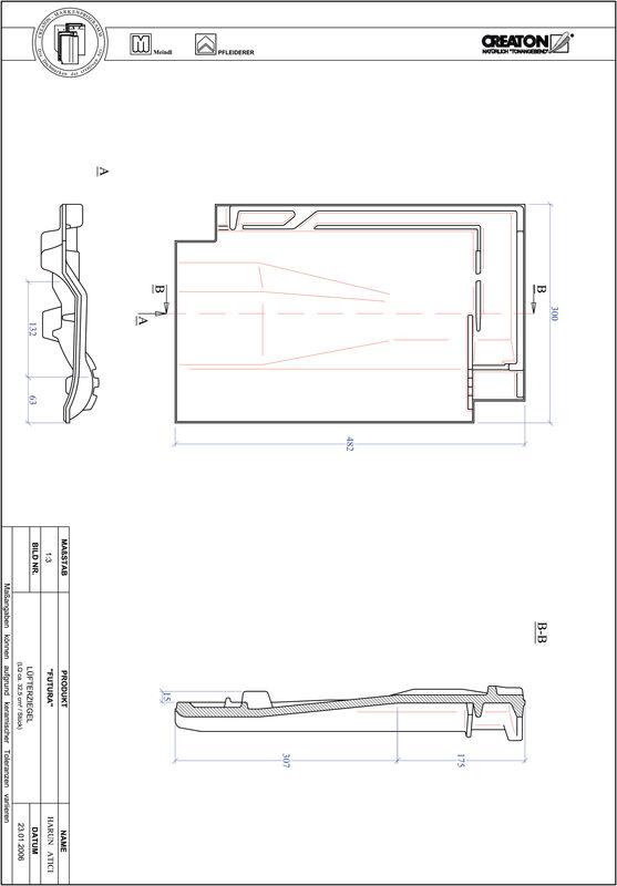 CAD soubor tašky FUTURA větrací taška LUEFTZ