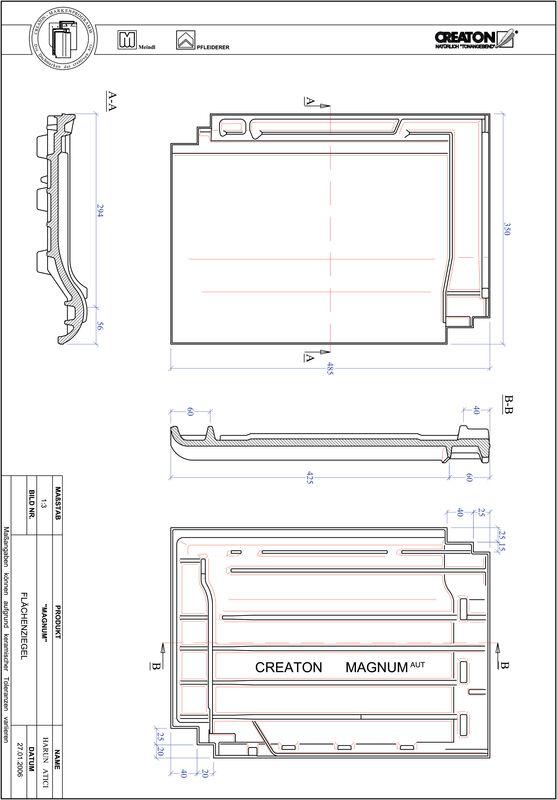CAD soubor tašky MAGNUM střešní taška FLA