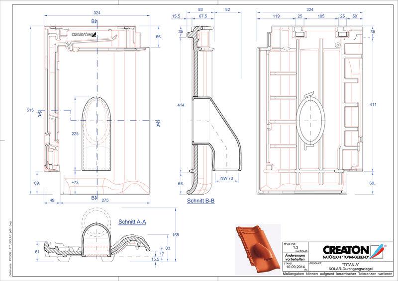 CAD soubor tašky TITANIA prostupová taška pro solární systémy SOLAR