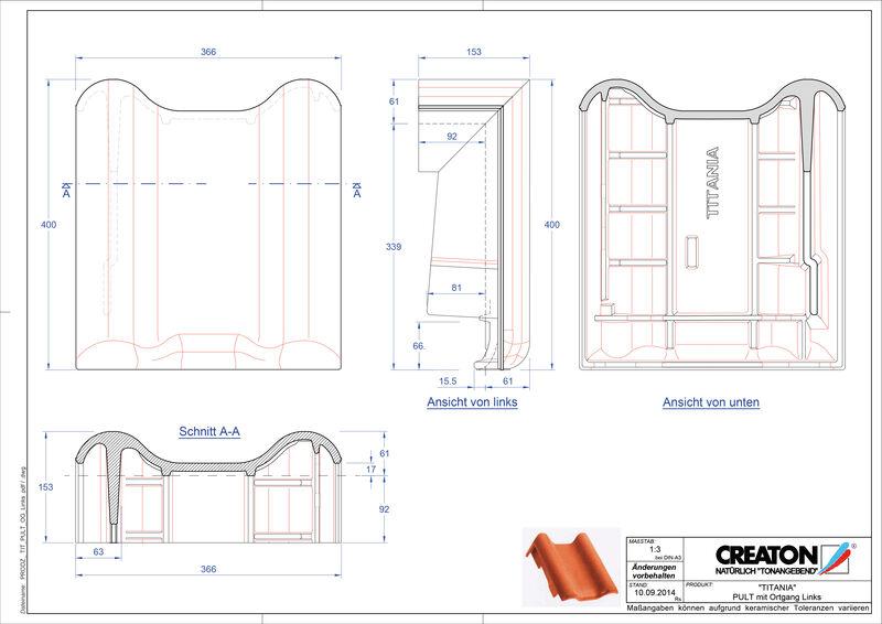 CAD soubor tašky TITANIA pultová taška krajní levá PULTOGL
