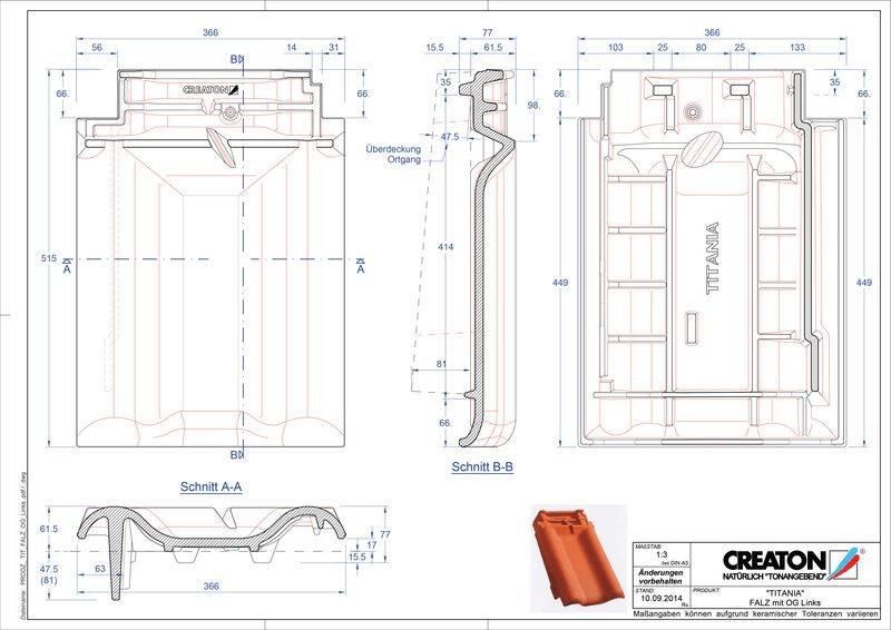 CAD soubor tašky TITANIA podhřebenová větrací taška krajní levá FALOGL