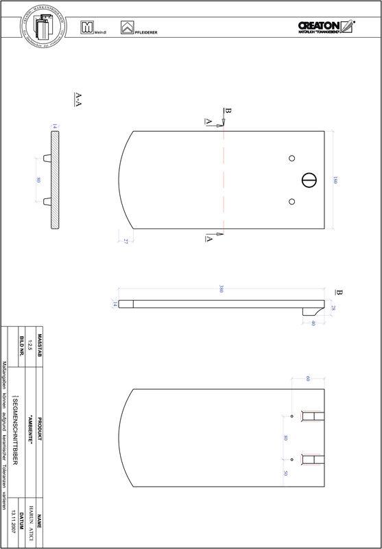 CAD soubor tašky AMBIENTE segmentový řez SEG-1-1