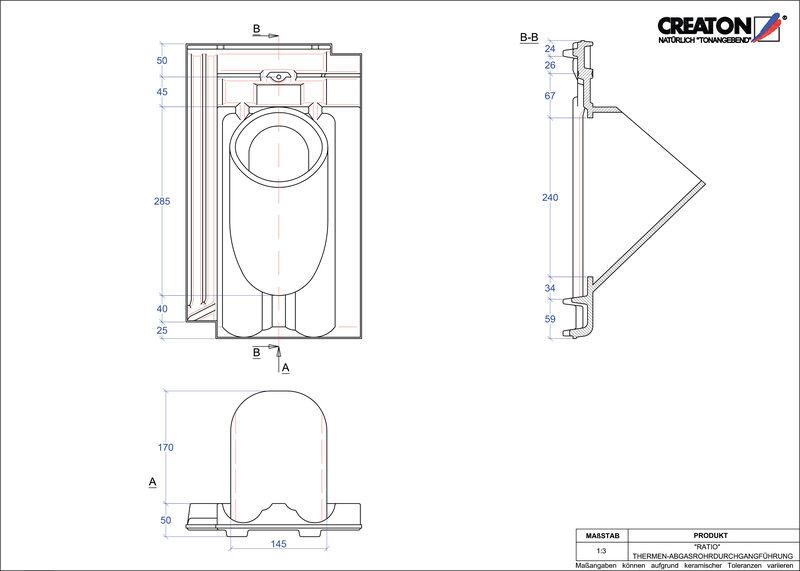 CAD soubor tašky RATIO prostupová taška pro odvod spalin THERME