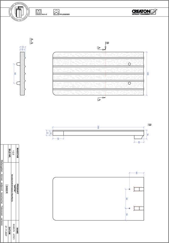 CAD soubor tašky ANTIK rovný řez GER-ERHO
