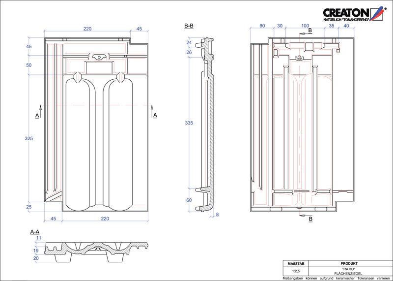 CAD soubor tašky RATIO střešní taška FLA