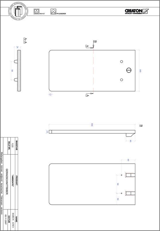 CAD soubor produktu AMBIENTE rovný řez GER