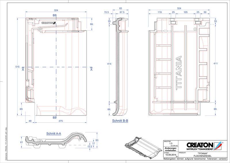 CAD soubor tašky TITANIA střešní taška FLA