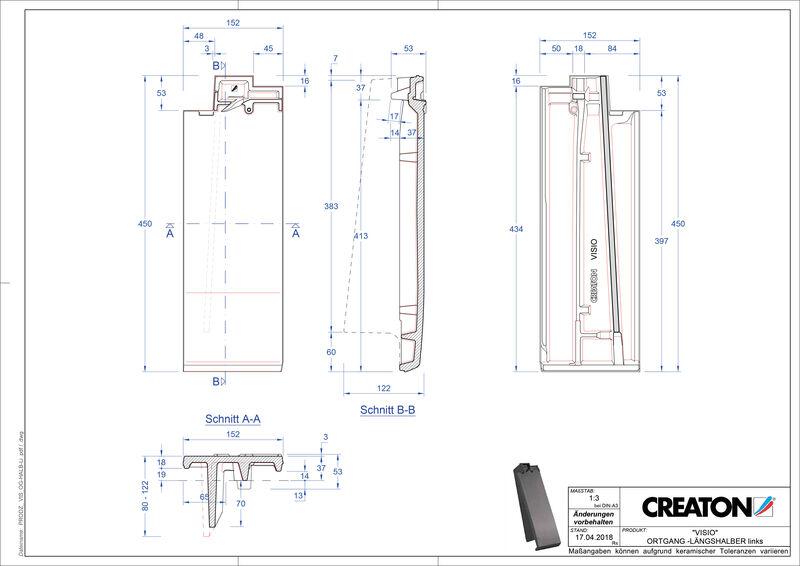 CAD soubor tašky VISIO poloviční taška krajní levá LHOGL