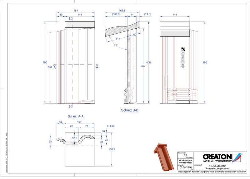 CAD soubor tašky HEIDELBERG krajní taška pravá Pult-halb