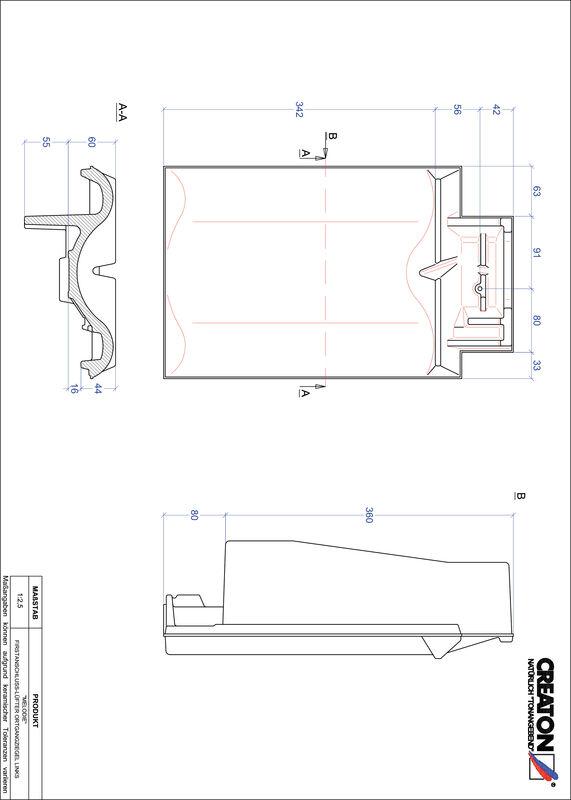 CAD soubor tašky MELODIE podhřebenová větrací taška krajní levá FALOGL