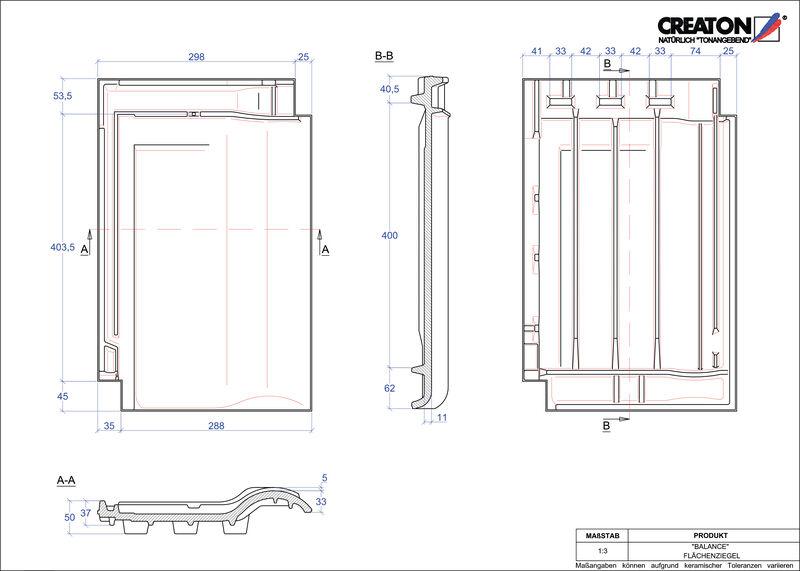 CAD soubor tašky BALANCE střešní taška FLA