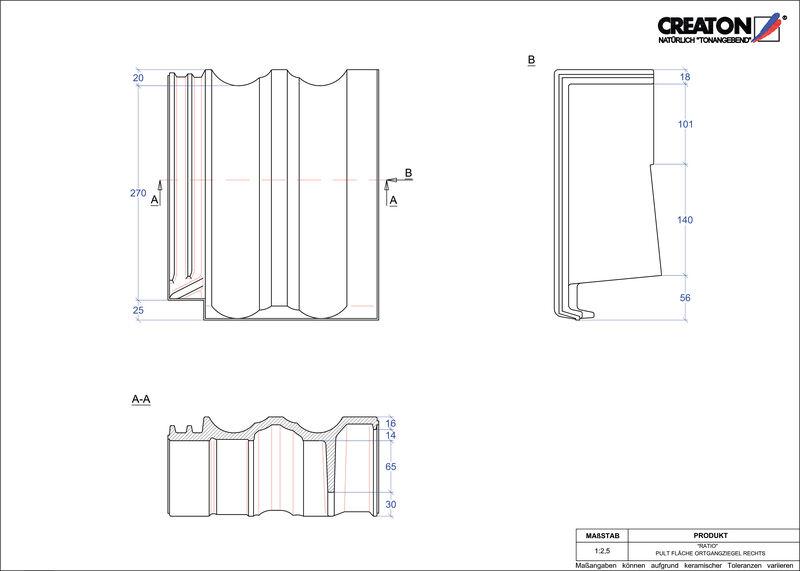 CAD soubor tašky RATIO pultová taška krajní pravá PULTOGR