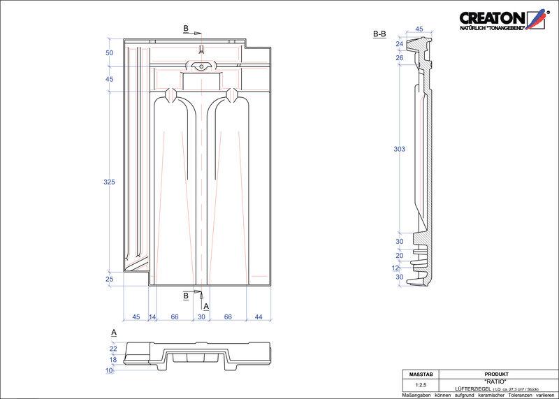 CAD soubor tašky RATIO větrací taška LUEFTZ