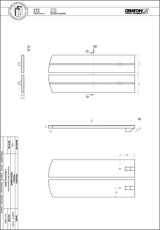 CAD soubor tašky PROFIL segmentový řez KERA-SAECHS-15-CM-LH