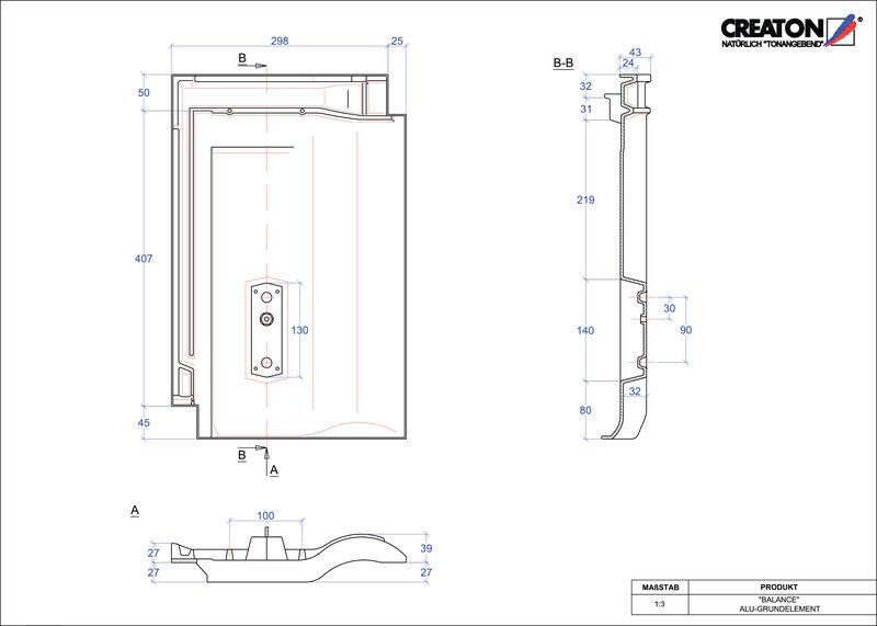 CAD soubor tašky BALANCE hliníková základní taška GRUNDALU