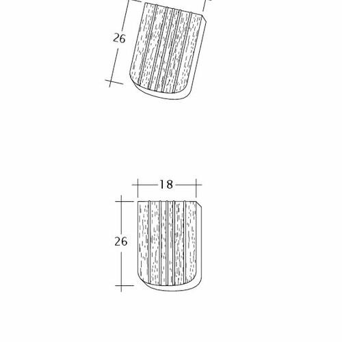 Technický výkres tašky ANTIQUE ErhO-Korb-Firstanschluss
