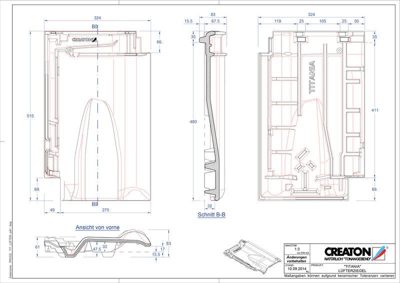 CAD soubor tašky TITANIA větrací taška LUEFTZ