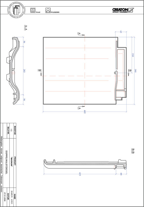 CAD soubor tašky MAGNUM taška s dvojitou naválkou DWZ