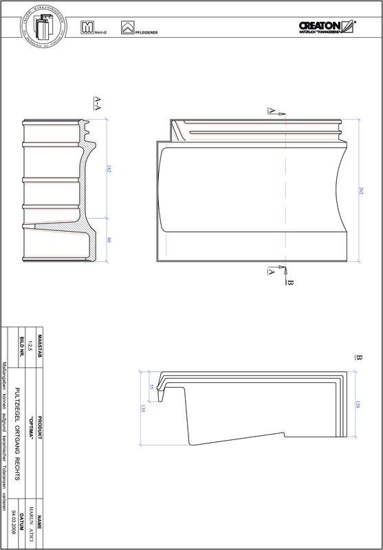 CAD soubor tašky TERRA OPTIMA pultová taška krajní pravá PULTOGR