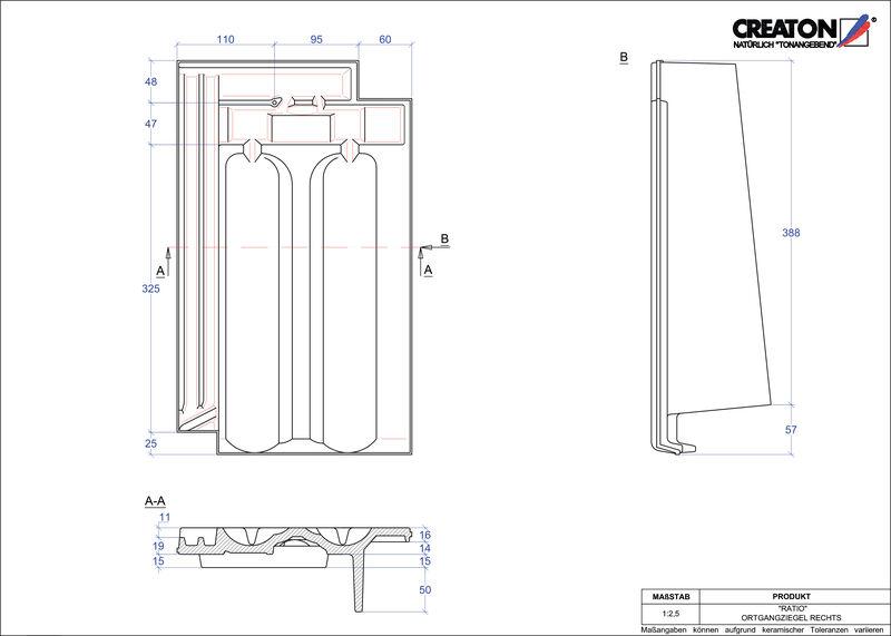 CAD soubor tašky RATIO krajní taška pravá OGR