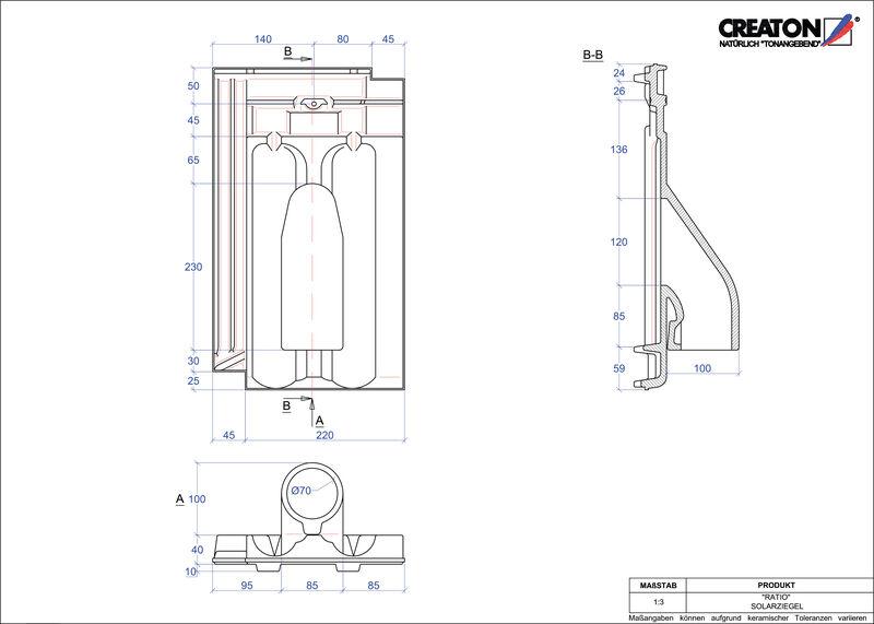 CAD soubor tašky RATIO prostupová taška pro solární systémy SOLAR